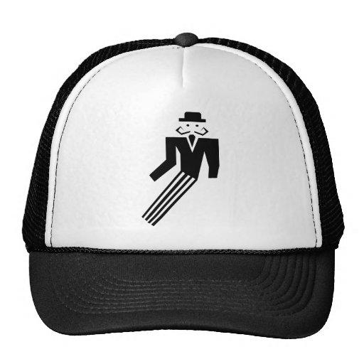 Mustache Man - Art Deco Mesh Hats