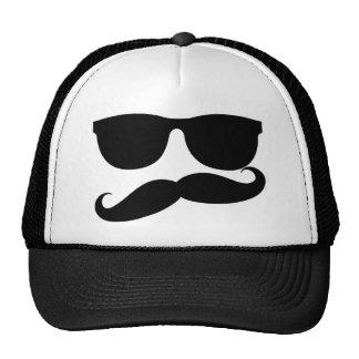 Mustache Man Mesh Hats