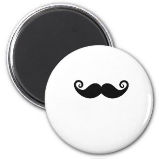 Mustache Mania 2 Inch Round Magnet