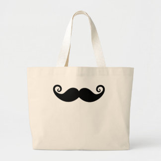 Mustache Mania Large Tote Bag