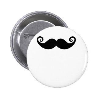 Mustache Mania Pinback Button