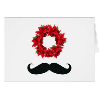 Mustache Merry Christmas Card