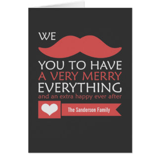 Mustache Merry Everything Card