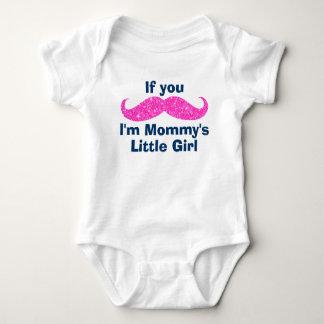 Mustache Mommy's Little Girl Baby Bodysuit