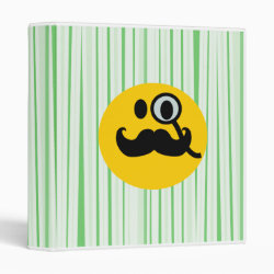 Avery Signature 1' Binder with Mustache with Monocle Smiley design