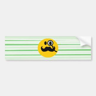 Mustache monocle Smiley Bumper Stickers
