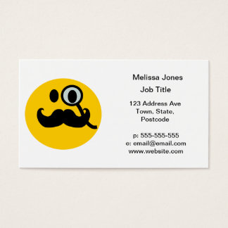 Mustache monocle Smiley Business Card