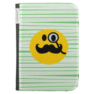 Mustache monocle Smiley Kindle Keyboard Cases