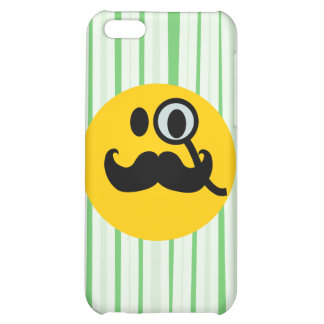 Mustache monocle Smiley Case For iPhone 5C