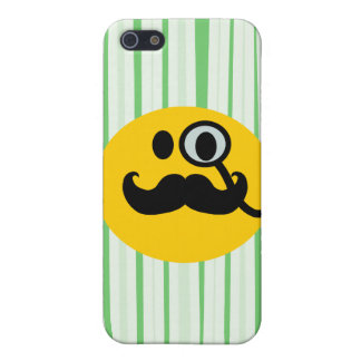 Mustache monocle Smiley Cover For iPhone SE/5/5s