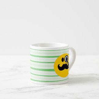 Mustache monocle Smiley Espresso Cup
