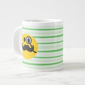 Mustache monocle Smiley Giant Coffee Mug