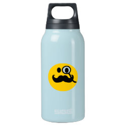 SIGG Thermo Bottle (0.5L) with Mustache with Monocle Smiley design