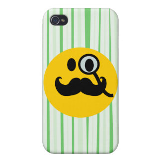 Mustache monocle Smiley iPhone 4/4S Covers
