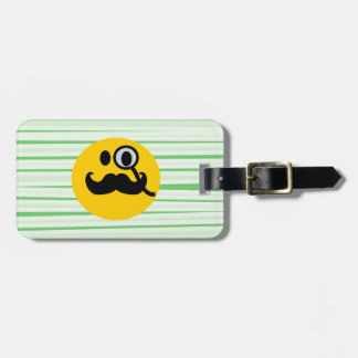 Mustache monocle Smiley Tags For Bags
