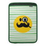 Mustache monocle Smiley MacBook Sleeves