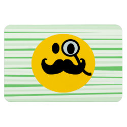 4'x6' Photo Magnet with Mustache with Monocle Smiley design
