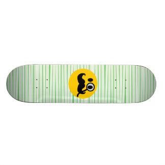 Mustache monocle Smiley Skateboard