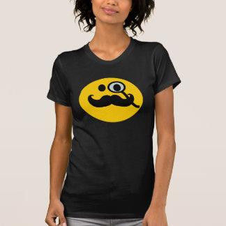 Mustache monocle Smiley T-shirt