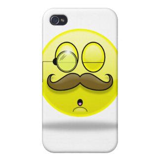 Mustache & Monocle Smilie iPhone Case iPhone 4/4S Cases