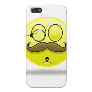 Mustache & Monocle Smilie iPhone Case Cases For iPhone 5