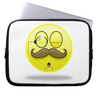 Mustache & Monocle Smilie Laptop Case Laptop Sleeve