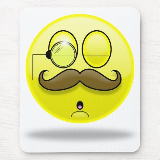 Mustache & Monocle Smilie Mousepad