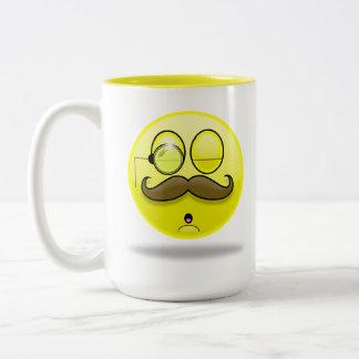 Mustache & Monocle Smilie Mug