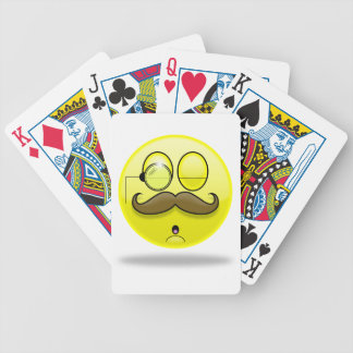 Mustache & Monocle Smilie Playing Cards Bicycle Playing Cards