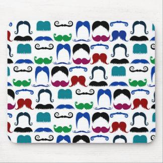 Mustache Moustache Retro Pattern Mouse Pad