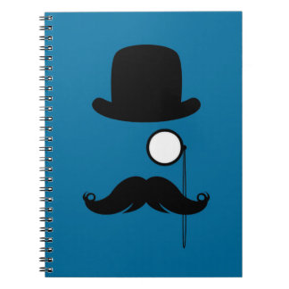 Mustache Moustache Stache Man Spiral Note Book