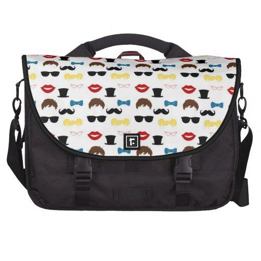 Mustache Moustache Stache Pattern Bag For Laptop
