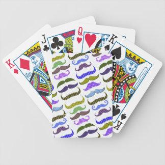 Mustache Moustache Stache Pattern Deck Of Cards