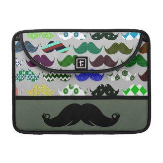 Mustache Moustache Stache - Very Retro! MacBook Pro Sleeves
