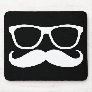 Mustache Nerd Mouse Pad