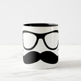 Mustache Nerd Two-Tone Coffee Mug