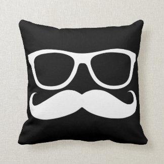 Mustache Nerd Throw Pillow