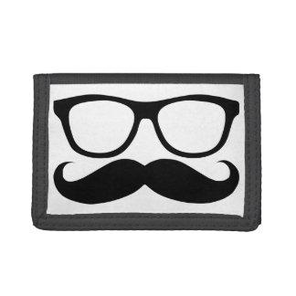 Mustache Nerd Tri-fold Wallet