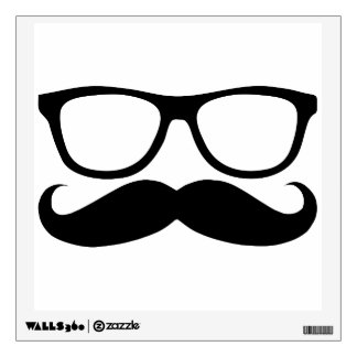 Mustache Nerd Wall Sticker