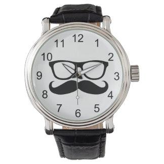 Mustache Nerd Wristwatch