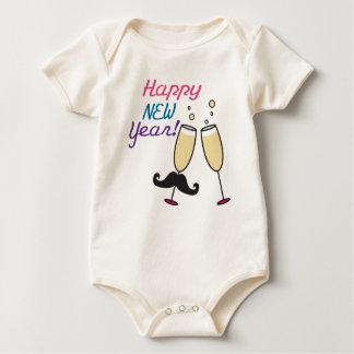 Mustache New Years Baby Bodysuit