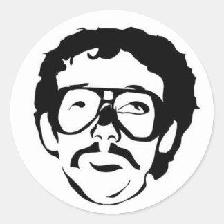 Mustache of the Week Classic Round Sticker