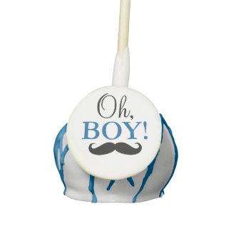 Mustache Oh Boy Baby Shower Cake Pop