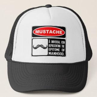Mustache Or Moustache In Danger Sign Trucker Hat