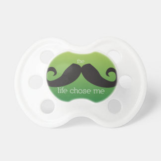 Mustache Pacifier for Baby (Green)