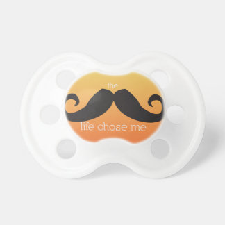 Mustache Pacifier for Baby (Orange)