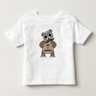 mustache panda bear toddler t-shirt