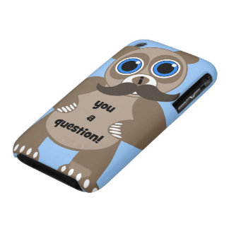 mustache panda iPhone 3 case