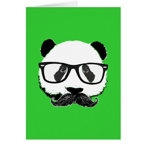 Mustache Pandaz In Da Disco Cards