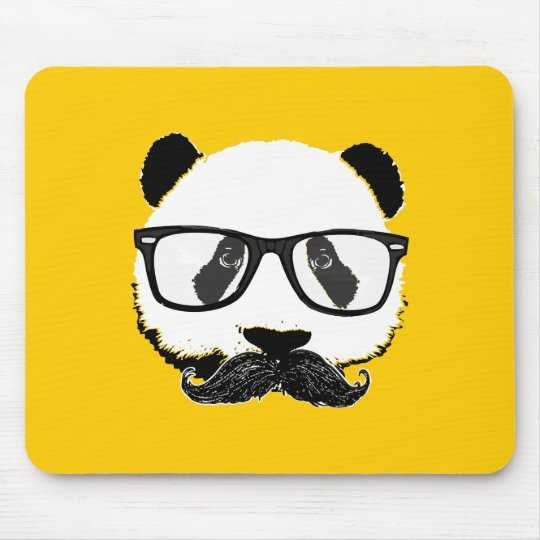Mustache Pandaz In Da Disco Mouse Pad